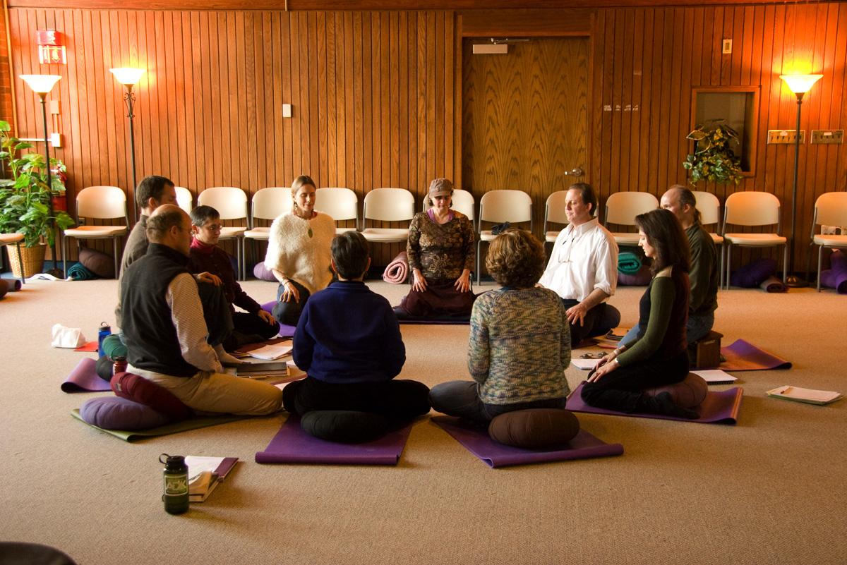 Meditators circle